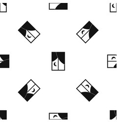 Nightly window pattern seamless black vector