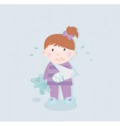 patient girl vector image