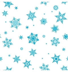 Seamless pattern of snowflakes EPS 10 vector image vector image