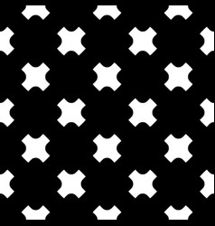 Seamless pattern white crosses on black backdrop vector