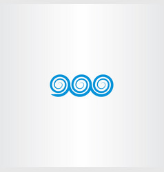 spiral water waves icon sign element vector image
