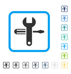 Tuning framed icon vector