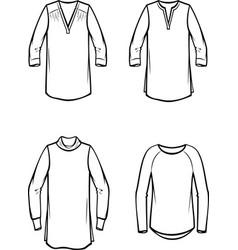 Womens blouse vector