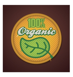 Organic fabric badge vector
