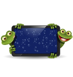 Frog with gadget vector