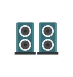 Two audio speakers icon in flat style vector