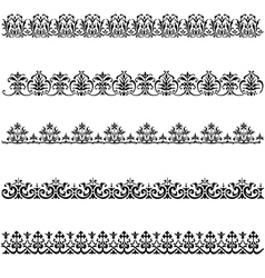 Old border designs set vector