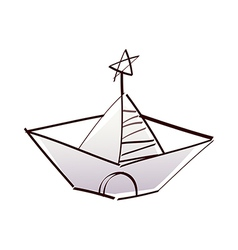 A view of paper boat vector