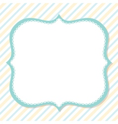 Cute card design vector image
