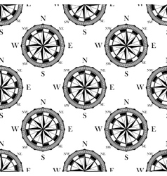 Seamless pattern of vintage compasses vector image