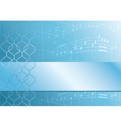 Light blue music background vector