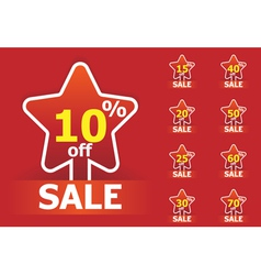 sale star stickers vector image