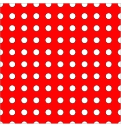 White dots on red background seamless pattern vector