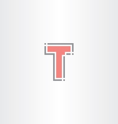 Letter t tech icon logo sign design vector