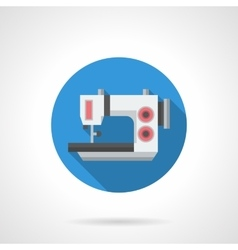 Electric sewing equipment flat round icon vector