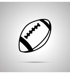 Rugby ball simple black icon vector