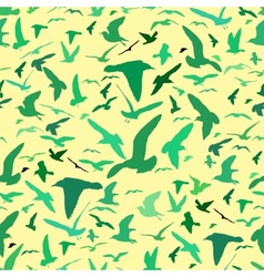 Seamless pattern with seagull silhouettes vector