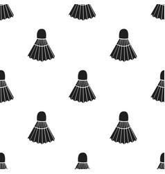badminton icon black single sport icon from the vector image vector image