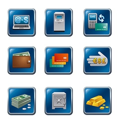 banking buttons vector image vector image