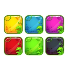 Cartoon stylized app icons with nature elements vector image vector image