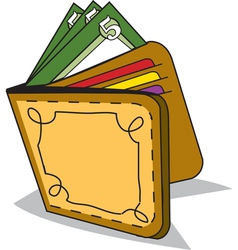 cash wallet vector image vector image