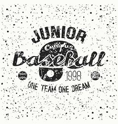 College baseball junior team emblem vector image vector image