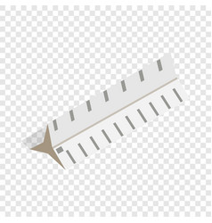 drawing ruler isometric icon vector image vector image