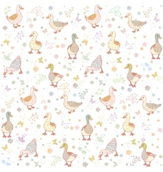 Ducks seamless background vector