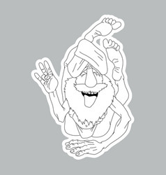 funny yogi sticker vector image