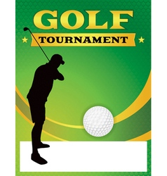 Golf Tournament Flyer Template Vector ...