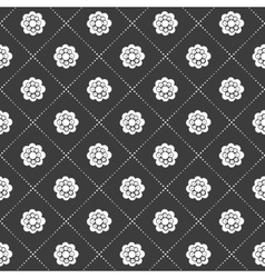 Monochrome flower pattern vector image vector image