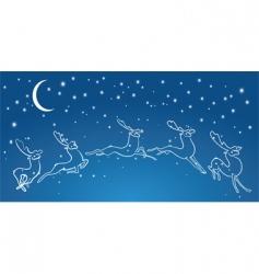 night deers vector image