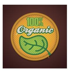 Organic fabric badge vector image vector image