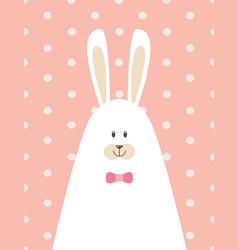 Papa rabbit poster vector