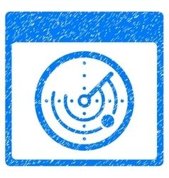 Radar calendar page grainy texture icon vector