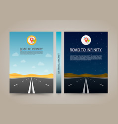 Road to infinity cover night and day highway vector