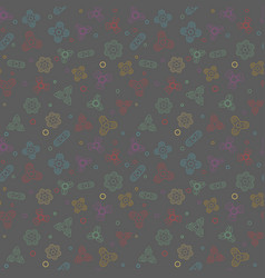 Seamless pattern with fidget spiner vector