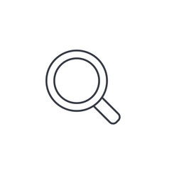 search magnifying glass thin line icon linear vector image
