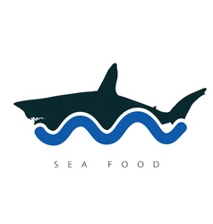 shark sea food vector image vector image