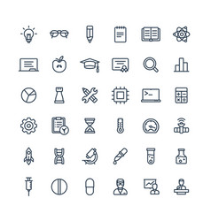thin line icons set with science and vector image vector image