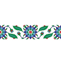 Turkish ornament border vector