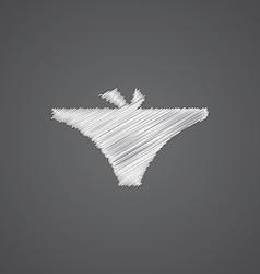 underwear sketch logo doodle icon vector image