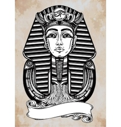 Vintage pharaoh with place for your text vector image vector image