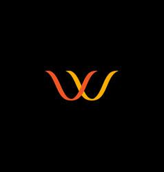 w monogram vector image