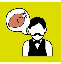 Waiter restaurant service order vector