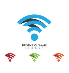 wireless logo template vcetor vector image