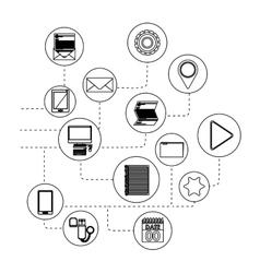 Isolated multimedia icon set design vector