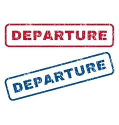 Departure rubber stamps vector
