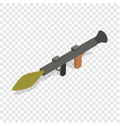 Military rifle anti tank rocket grenade gun icon vector