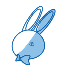 Cute cartoon rabbit wildlife animal speed vector